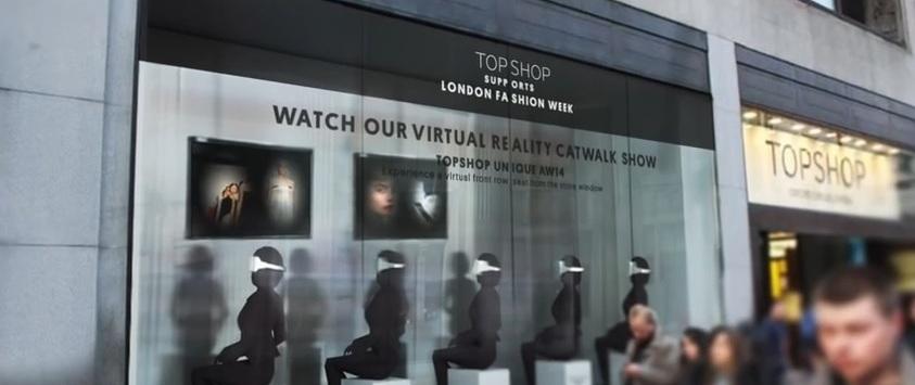 TopShop réalité virtuelle mode