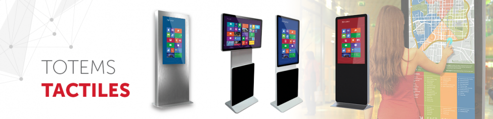 totems tactiles interactifs multitouch
