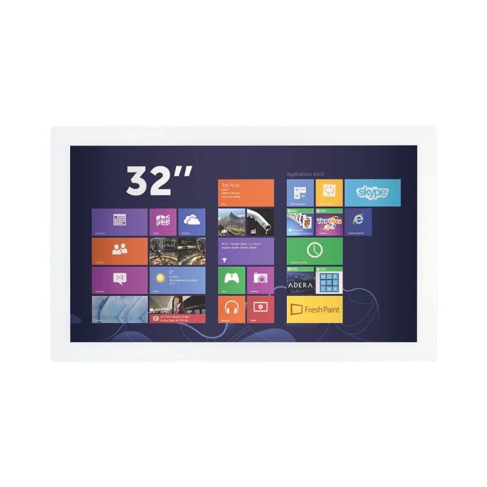 Ecran tactile 32 pouces capacitif projeté blanc