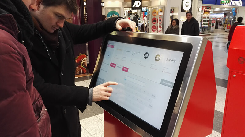 Borne interactive sur point de vente