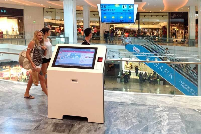 borne interactive centre commercial