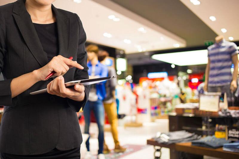 Vendeur connecté tablette
