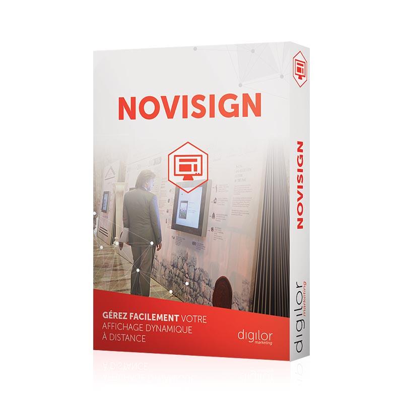 Logiciel Novisign gestion affichage dynamique à distance