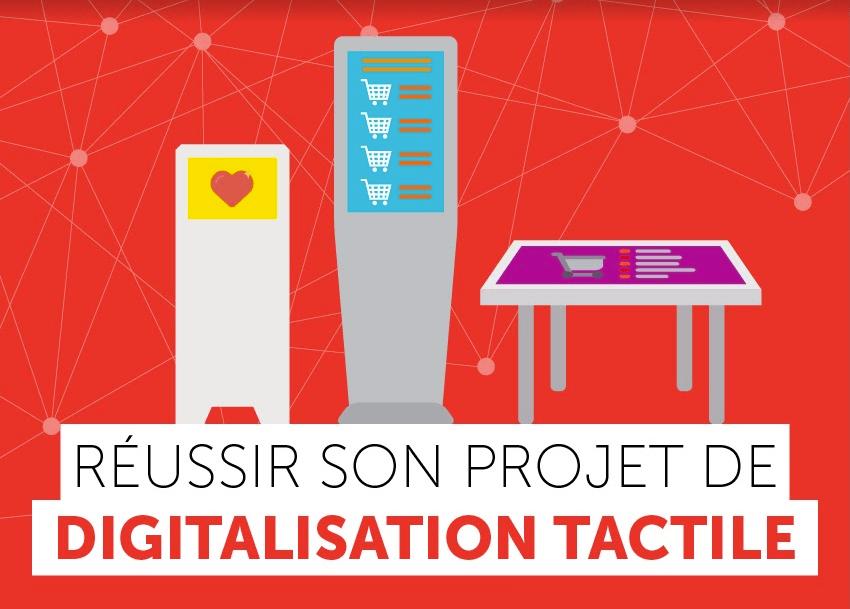 Infographie réussite de projet digital tactile