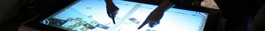 Borne écran tactile 46 pouces kiosk XL multitouch