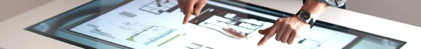 Borne interactive 42 pouces retail multitouch