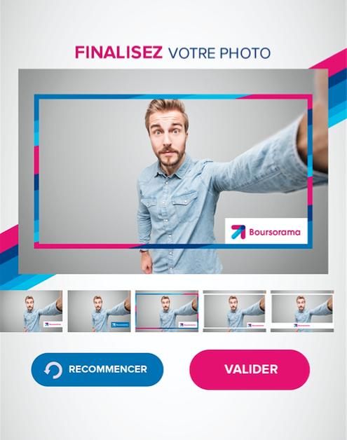 Borne tactile selfie prise de photos
