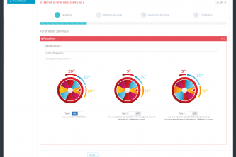 Interface de gestion application tactile roue