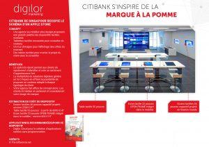 Citibank s'inspire de la marque à la pomme