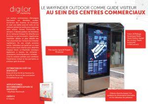 Le Wayfinder Outdoor comme guide visiteur au sein des centres commerciaux