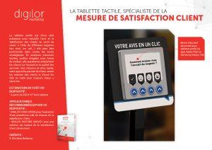 La tablette tactile, spécialiste de la mesure de satisfaction client