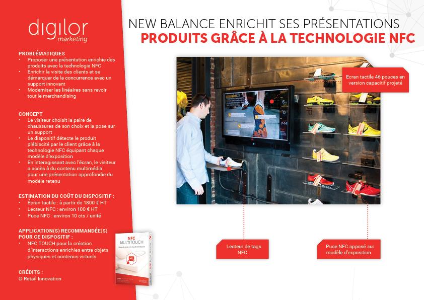 New Balance enrichit ses présentations grâce à la technologie NFC