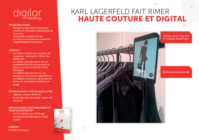 Karl Lagerfeld fait rimer haute-couture et digital