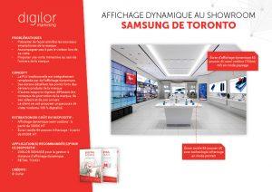 Affichage dynamique au showroom Samsung de Toronto