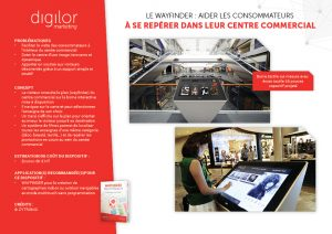 Le Wayfinder : aider les consommateurs à se repérer dans leur centre commercial