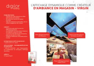 L'affichage dynamique comme créateur d'ambiance en magasin - Virgin
