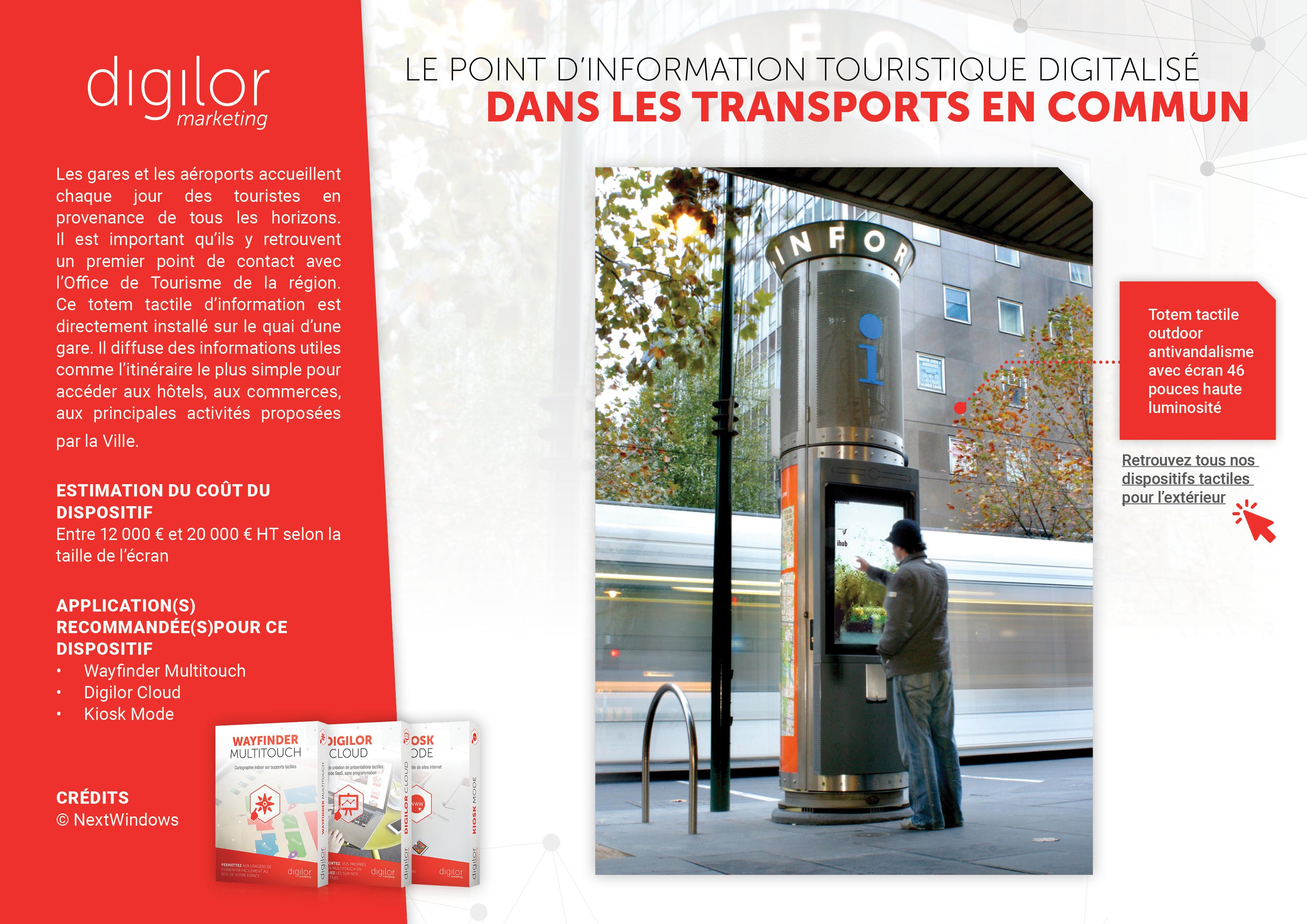 Le point d'information touristique digitalisé dans les transports en commun