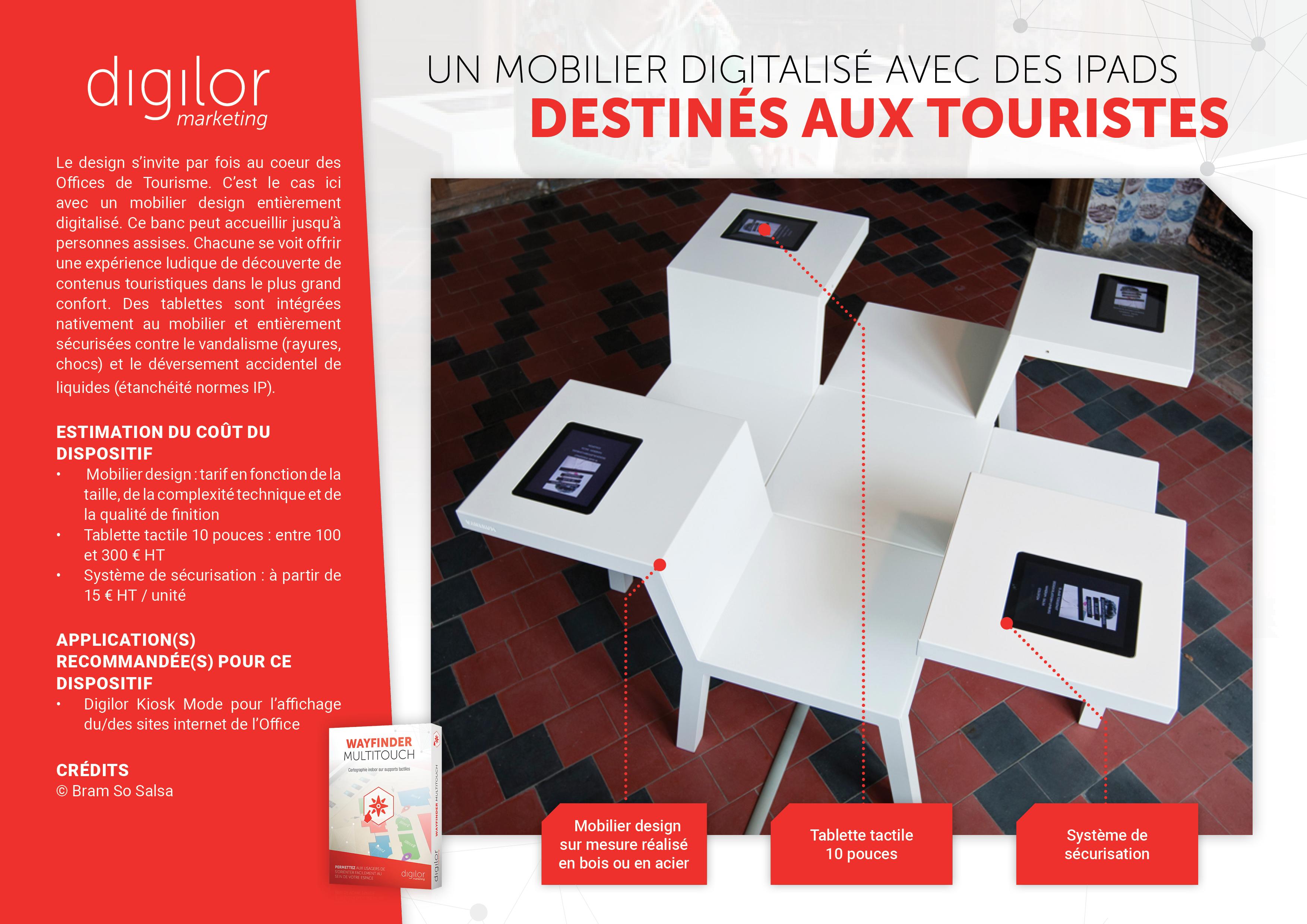 Un mobilier digitalisé avec des iPads destinés aux touristes