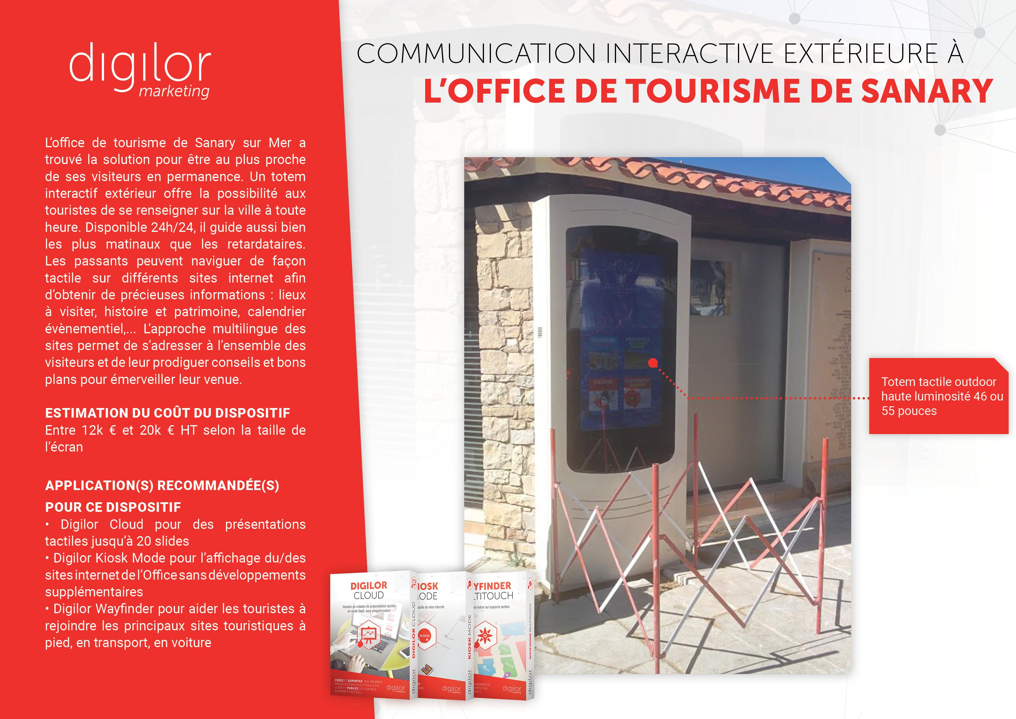Communication interactive extérieure à l'Office de Tourisme de Sanary