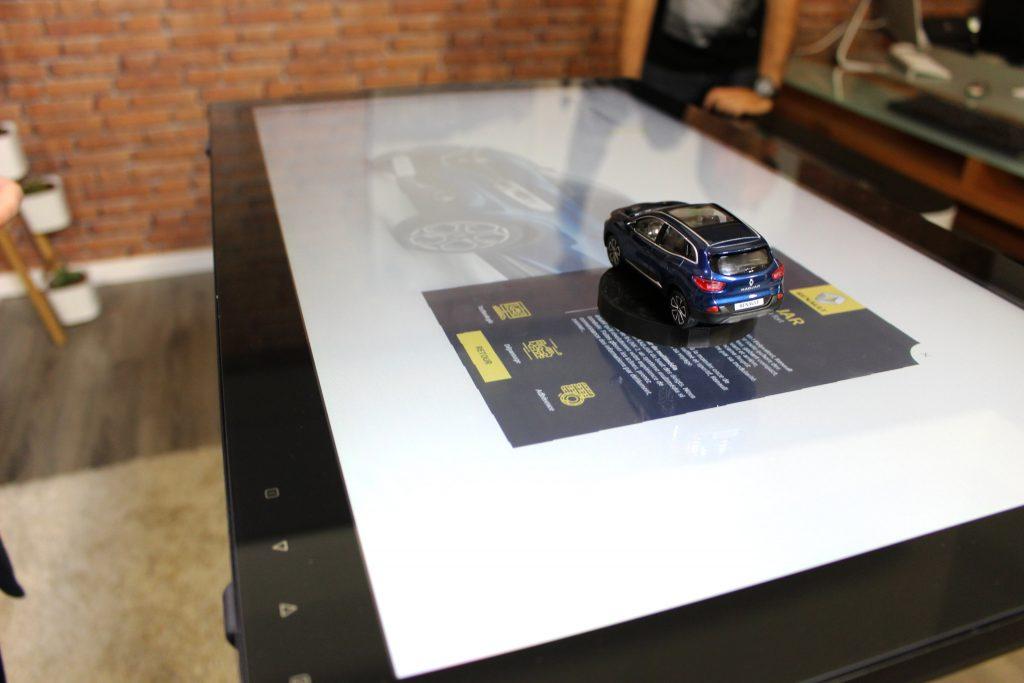 Reconnaissance objet logiciel table tactile