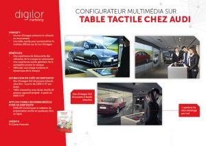 Configurateur multimédia sur table tactile chez Audi