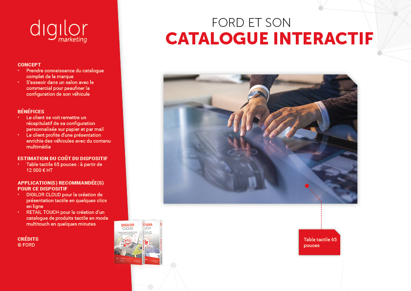 Ford et son catalogue interactif