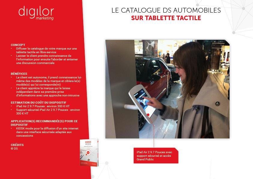 Le catalogue DS Automobiles sur tablette tactile