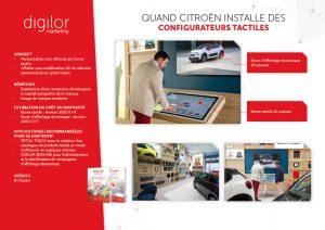 Quand Citroën installe des configurateurs tactiles