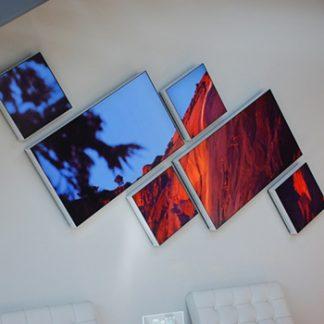 Mur LED mosaïque personnalisé