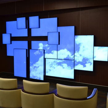 Mur LED mosaique video wall