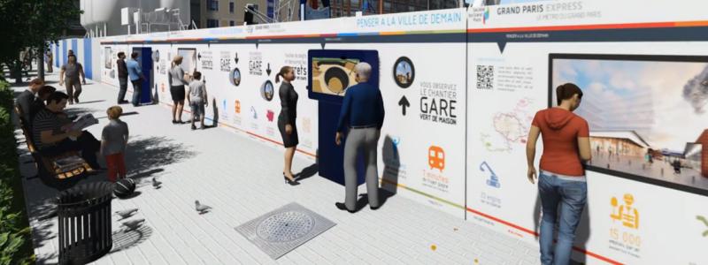 Borne travaux publics information