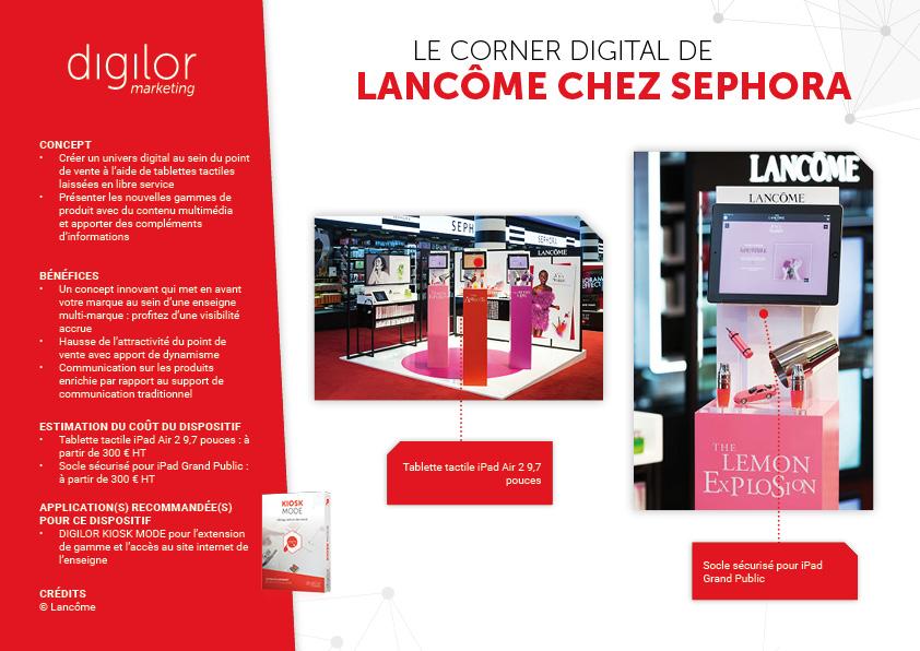 Le corner digital de Lancôme chez Sephora