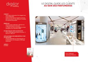 Le digital guide les clients au sein des parfumeries
