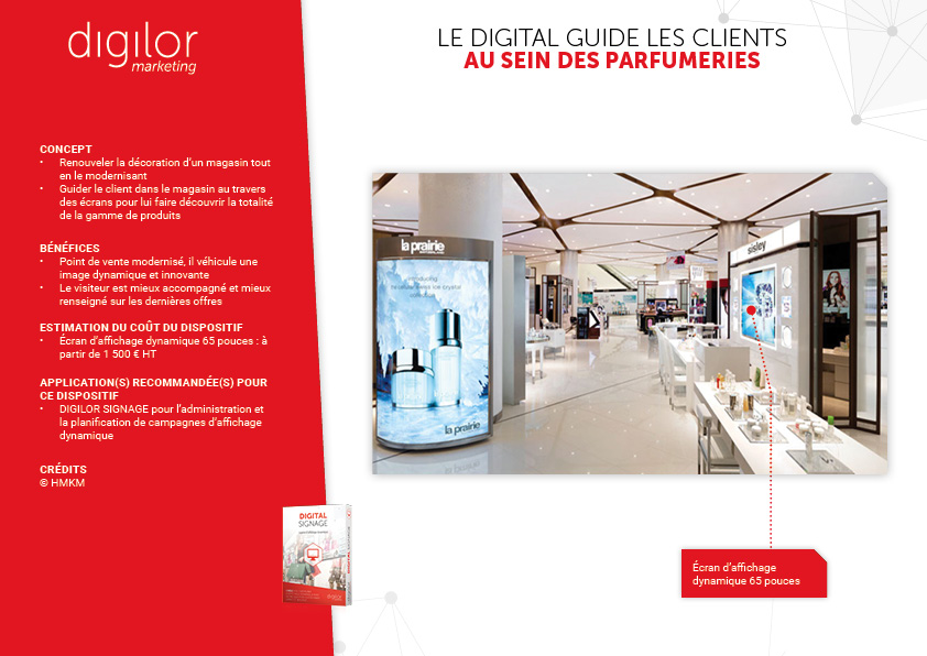 Le digital guide les clients au sein des parfumeries