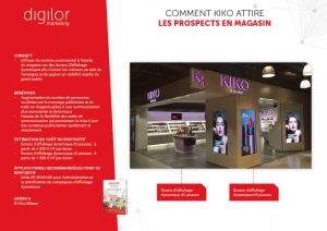 Comment Kiko attire les prospects en magasin