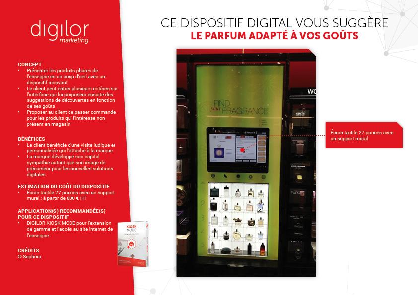 Ce dispositif digital vous suggère le parfum adapté à vos goûts