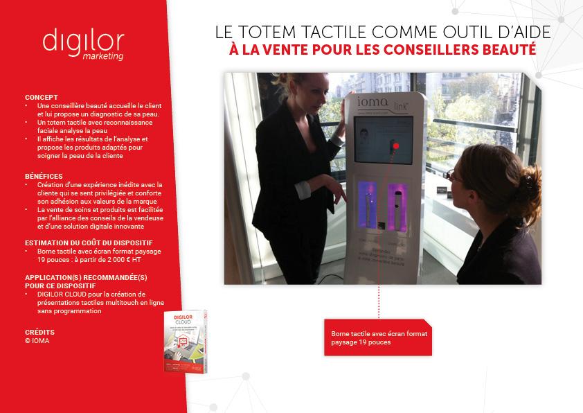 Le totem tactile comme outil d'aide à la vente pour les conseillers de beauté