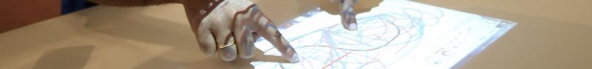 Table digitale 42, 46, 55 pouces application