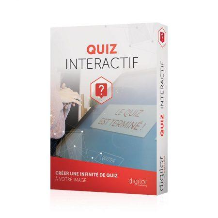 Application tactile quiz interactif boîte