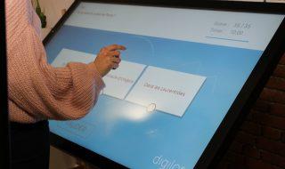 Application tactile Quiz Interactif utilisation borne