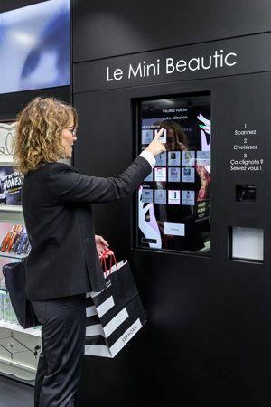 borne interactive choix produits sephora