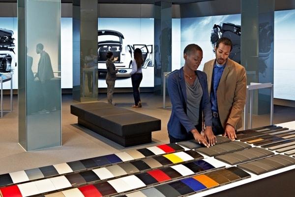 mur d'images Audi City extension de gamme et enchantement expérience client