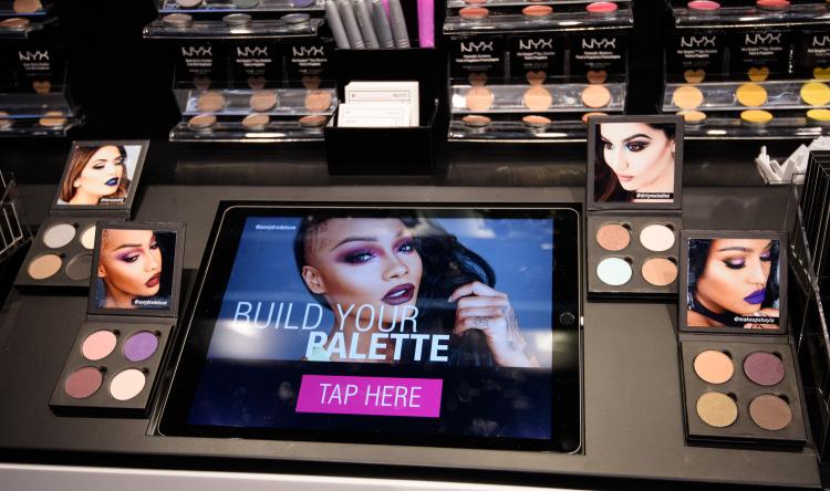 tablette tactile personnalisation palette maquillage
