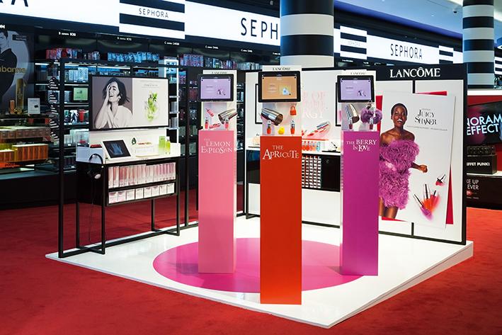 corner digital tablettes tactiles Lancôme chez Sephora