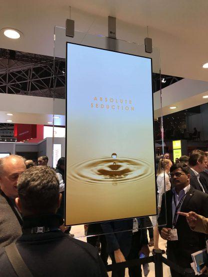 Ecran OLED 55 pouces suspendu LG