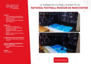 Le terrain de football interactif du National Football Museum de Manchester