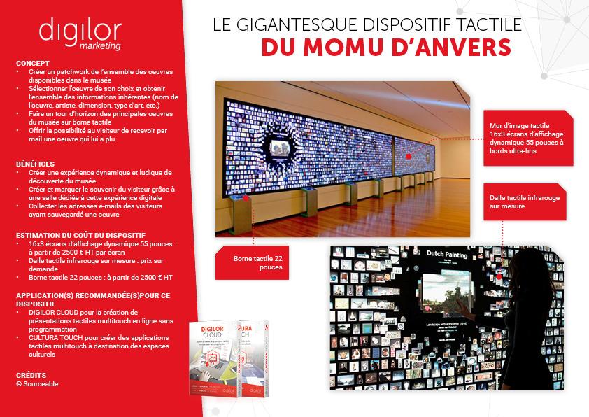 Le gigantesque dispositif tactile du MoMu d'Anvers
