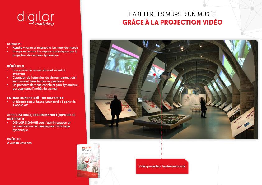 Habiller les murs d'un musée grâce à la projection vidéo