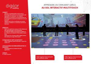Apprendre en s'amusant grâce au sol interactif multitouch
