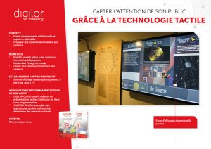 Capter l'attention de son public grâce à la technologie tactile